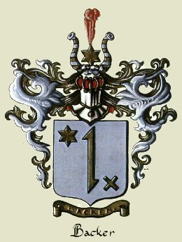 Backer family coat of arms.  Click to see details