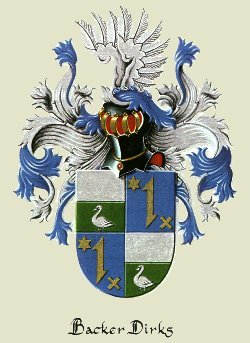 Backer Dirks family coat of arms.  Click to see details