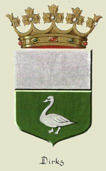 Dirks family coat of arms.  CLick to see details